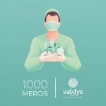 Valdys lance l'opération 1000 Mercis à destination des soignants